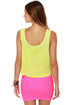 Local Celebrity Malibu Neon Yellow Crop Top