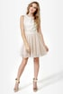 Nouveau Riche Gold and Beige Brocade Dress