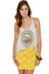 One Rad Girl Brooke Yellow Lace Mini Skirt