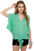 Summer Lodge Mint Short Sleeve Top