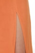 One Slit Wonder Burnt Orange Maxi Skirt