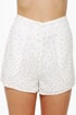 Dainty Dots Studded Ivory Shorts