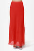 Bits and Creases Orange Maxi Skirt