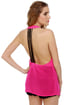 Line it Up Sheer Fuchsia Tank Top