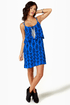 Volcom Mag Pie Blue Print Dress