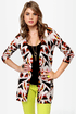 Volcom V.Co Loves Beige Print Cardigan Sweater