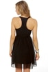 Nightin-gala Black Silk Dress