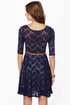 Catch the Bouquet Blue Lace Dress