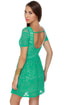 Gazebo Get-Together Teal Lace Dress