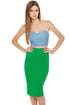 Building Block Green Pencil Skirt