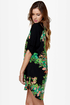 Botany Books Black Floral Print Dress