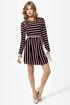 First In Line Black Striped Dress