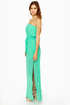 Mermaid in Heaven Strapless Turquoise Maxi Dress