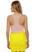 Hot Optic Beige and Neon Yellow Dress