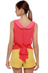 Fit in Finery Sheer Coral Red Top