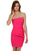 Polite to Point Strapless Fuchsia Pink Dress