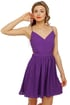 Evening News Backless Purple Dress
