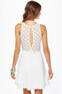 LULUS Exclusive Party Don't Stop Ivory Dress