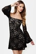 Ring My Bell Off-the-Shoulder Black Lace Dress
