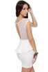 Flirt and Flutter Mesh Ivory Dress
