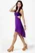 Notchy by Nature High-Low Purple Dress
