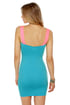 On the Down Low Neon Pink and Blue Dress