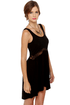 Middle Women Lace Black Dress