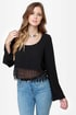 Crop It Like It\\\\\\\'s Hot Black Lace Top