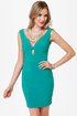 Number One Stunner Cutout Teal Dress