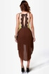 Charleston Charmer Brown Color Block Dress
