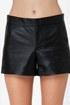BB Dakota Bryn Black Leather Shorts