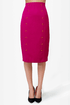 City Sleek-er Fuchsia Pencil Skirt