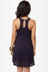 Glitz About You Navy Blue Glitter Lace Dress