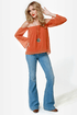 Landslide Off-the-Shoulder Orange Top
