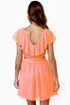 Ruffle, Shuffle, and Roll Coral Pink Dress