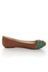 Qupid Thesis 193 Rust Nubuck Two Tone Toe Band Ballet Flats