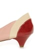 unRestricted Wonder Red Color Block Patent Kitten Heels