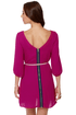 Gem of the Woods Belted Magenta Dress