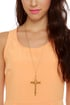 Whistle While You Work It Gold Cross Necklace