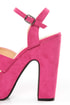 Bonnibel Portia 1 Hot Pink Platform Sandals