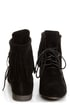 Sandy 35 Black Fringe Lace-Up Booties