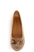 City Classified Hi Taupe Tassel Ballet Flats