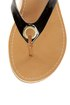 City Classified Micky Black Patent Flip-Flop Thong Sandals
