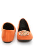 City Classified Quant Coral Orange Medallion Ballet Flats