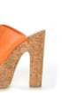 C Label Christian 3 Orange Lace-Up Peep Toe Slide Platforms