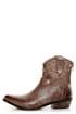 C Label Denco 1 Brown Star Studded Ankle Cowboy Boots