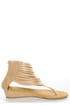 C Label Solara 9 Beige Strappy Ankle Cuff Thong Sandals