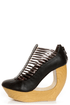 Fahrenheit Lolita 05 Black & Bronze Strappy Cutout Wedge Booties