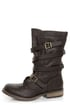 GoMax Apple Ranch 01 Brown Slouchy Belted Combat Boots