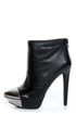 Jessica Simpson Essas Black and Silver Cap-Toe Platform Booties